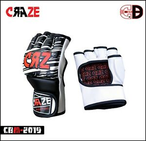 Sparring Grappling Boxing Gloves Fight Punch Ultimate PU Leather MMA Bag Mitts