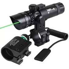 Green Dot Laser Adjustable With 2 Mounts 2 Switches Sight Tactical Power Scope