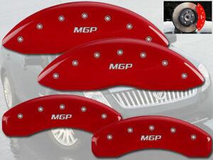 2003-2004 Mercury Marauder Base Front + Rear Red MGP Brake Disc Caliper Covers