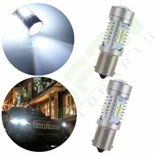 2x Super White 1156 1141 LED 15 SMD 6000K Backup Lights 60W Cree Reverse Bulb