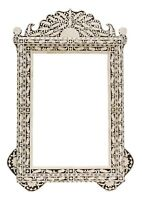 Photo Frame Picture Mirror Camel Bone Inlay Wood Decorative Wall Decor ArtUS401A