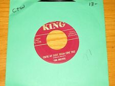 """COUNTRY 45 RPM - YORK BROTHERS - KING 1248 - """"YOU'RE MY EVERY DREAM COME TRUE"""""""