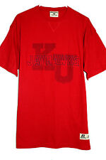 NWT Kansas Jayhawks - Classic Dual Center Logo PRO COTTON T Shirt - Men's LG