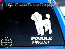 Poodle PARENT(S) - Vinyl Decal Sticker / Color Choice - HIGH QUALITY