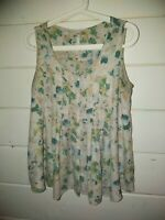 LC Lauren Conrad Size Small Floral Sleeveless Blouse