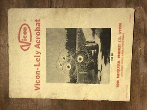Vicon Acrobat Hay Turner - Original Mannual