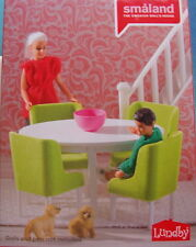 Eßzimmer Lundby Tisch Stühle Teppich Puppenhaus grün neue Verpackung 2015