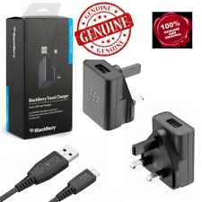Genuine Blackberry Q10 Q5 Z10 9900 9930 9720 Mains Charger Micro USB Cable
