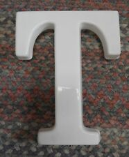 "White Plastic 12"" Hanging letter T Store Sign spell-out alphabet Capital vintage"