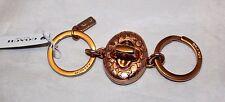 Coach Signature C Turnlock Valet Key Ring Key Fob - 65501 - Rose Gold