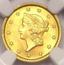 1853 Liberty Gold Dollar Coin G$1 - NGC MS65 - Rare in MS65 - $3,500 Value!