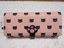 """long wallet Kawaii Cat pattern """"nikukyu poohchan series"""" Pink Color  Japan F/S"""
