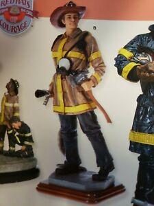"""Sentinel Of Courage"" Firefighter Sculpture By VanMark #88186"