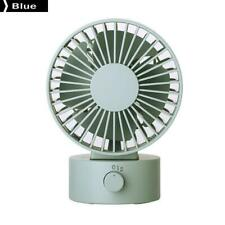 "4"" Dual Blades USB Table Fan Desk PC/Laptop Air Cooling Personal Fan Blue"