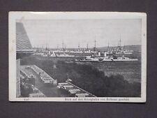 Ansichtskarte Kiel - Blick auf den Kriegshafen, Feldpost 1915 gelaufen