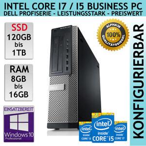 Dell Optiplex 7010 Bureau 3rd Gen Jusqu'À i7 1TB SSD 16 RAM Win 10 Business PC