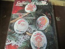 "GALLERY OF STITCHES, BUCILLA 4 COUNTED CROSS STITCH VICTORIAN ORNAMENTS 2"" x 2"""