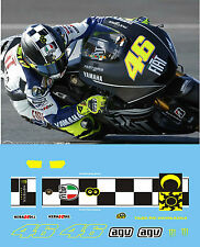 ROSSI - 2009 QATAR NIGHT TEST - MONSTER BLACK HELMET DECALS  - 1:12 SCALE