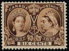 Canada 55 Mint F-VF, Hinged 6c Jubilee