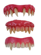 DENTI Vampiro faccette dentali Zanne Vampiressa Dracula Halloween Fancy Dress