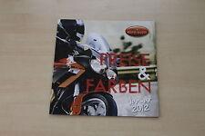 167580) Moto Guzzi - Modellprogramm Preise & Farben - Prospekt 01/2012