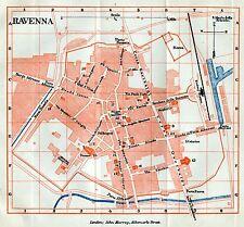 Pianta di Ravenna.Carta Topografica,Geografica.Stampa Antica + Passepartout.1891