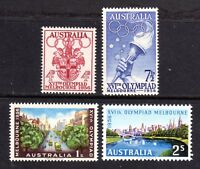 1956 ***MUH*** SET of 4 - MELBOURNE OLYMPIC GAMES - NICELY CENTRED