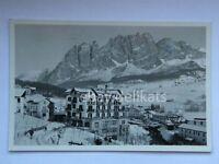 CORTINA D' AMPEZZO Hotel CORONA Dolomiti Belluno vecchia cartolina