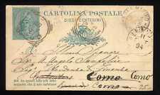 SAN MARINO - Cart. post. da 10 cent. (piega)