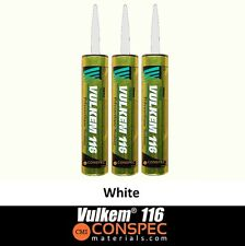 Vulkem 116 WHITE Polyurethane Sealant 10oz Caulk 3 Tubes Door Window Tremco