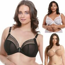 Elomi Matilda Bra Underwired Sheer Plunge 9800 Non-padded DD to K Cups!
