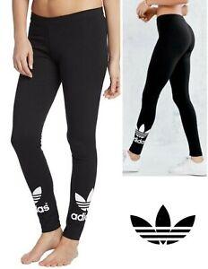 Adidas Women's Black Trefoil Leggings