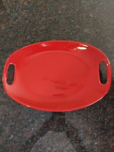 """Rachael Ray Bakeware, Red Oval Platter Server,  With Handles 13""""x9"""""""