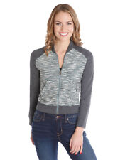 LUCKY BRAND BOUCLE STRIPE SWEATER BOMBER JACKET NWT SIZE XS