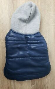 Top Paw Navy Coat with Gray Hood Dog