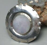 Sehr frühe 835 Silber Brosche von Perli 30er/40er Jahre Perlmutt Besatz /A595