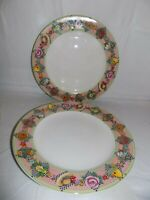 "(2X) Sakura Mary Engelbreit Garden Time At Home 11"" Dinner Plate 1994"