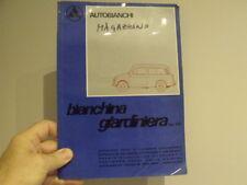 Fiat 500 Giardiniera Autobianchi Car body parts manual  - vintage Microcar