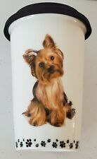 I Love My Yorkie. Little gifts 10 oz ceramic cup with silicone lid.