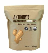 Organic Ground Ginger Root (1 Pound) by Anthony's Gluten-Free Non-GMO 1lb