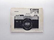 [MINT] Genuine Instructions Manual Booklet english edition - Canon FTb QL
