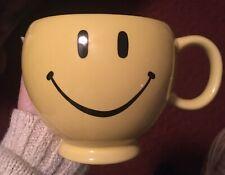 Smiley Mug Yellow 20oz Large Coffee Tea Cup Teleflora Happy Face Emoji
