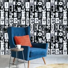 White Black Contact Paper Self Adhesive Wallpaper Removable Kids Boys Children
