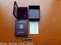 NO COIN: 1986 S PROOF SILVER EAGLE BOX/COA OGP ONLY BUY 2 GET 1 FREE!