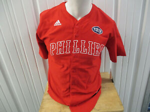 VINTAGE ADIDAS PHILADELPHIA PHILLIES YOUTH LARGE RED JERSEY NEW W/ TAGS WOMENS