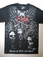 MAYHEM T-Shirt RARE Embroidered Logo Gorgoroth Dark Funeral Darkthrone Immortal