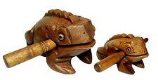 "Frog Carved Thai Wooden Croaking Instrument Musical Sound Frog Handcraft Art 5"""