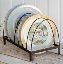 Rustic Footed Plate Rack Holder Storage File Folders Mail Caddy Farmhouse Decor