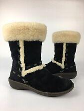 Ugg Elijo Shearling Lined Sheepskin Boots Black S/N 5674 Women's Size 9