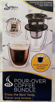 Pour Over Coffee Filter & 2 Insulated Coffee Mugs /works with Keurig